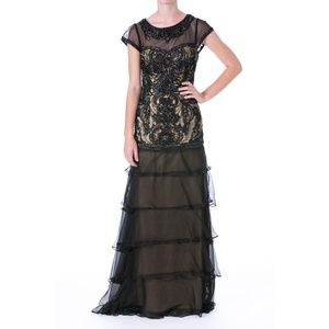 NWT Sue Wong Embellished Tiered Gown Sz 4/6